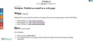 Mailpin:邮件内容一秒钟创建为多媒体网页